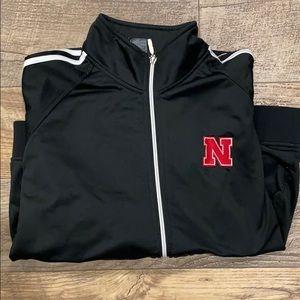 Black Adidas Nebraska full zip-up